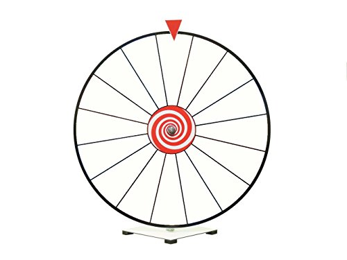 24'' Prize Wheel with Dry Erase White Face Kid Safe Pegless Design by Prize Wheel Fun
