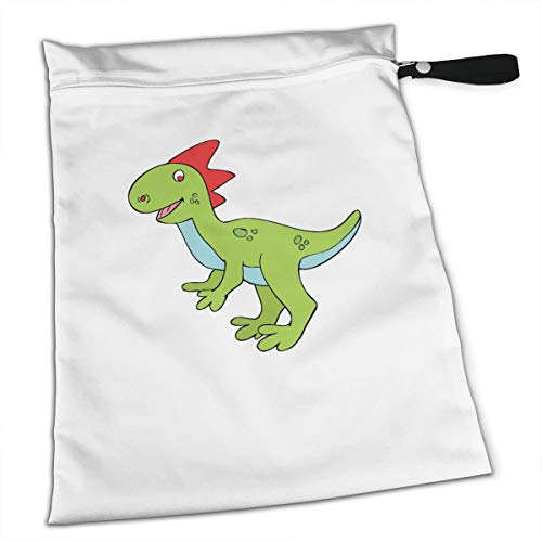 Liusgit Halloween Cute Dinosaur Clipart Collection Duffle Gym Bag Shoe Compartment Wet Pocket Waterproof Gear Bikini Tote Dry Beach Swimming Camping Kayak Workout Clothes Weather