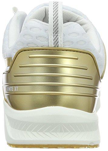 Puma Ignite XT v2 Gold Wns, Scarpe da Corsa Donna Bianco/Oro