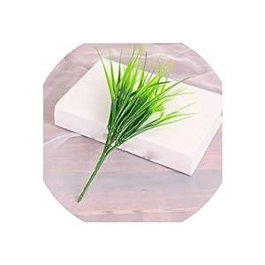 Artificial Plants 1 Pc Grass Green Plant Fake Flower Flower Arrangement Grass Artificial Plastic Christmas Wedding Home Decor Artificial Flower,1 Pc 14