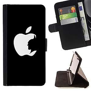 Momo Phone Case / Flip Funda de Cuero Case Cover - DIVERTIDA - APPLE BAT - HTC DESIRE 816