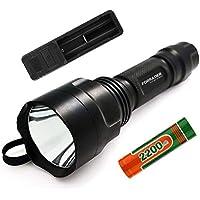 Kit de linterna con soporte para mira Cree XM-L de Forrader, para rifle de caza, de aire