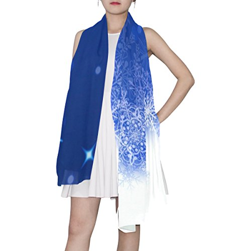 Woman Snowflake Multicolor Scarf Christmas Light Alaza TqwdIPd