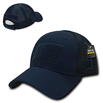 6ac72894ac5b1 Low Crown Air Mesh Tactical Cap with Loop Patch - Navy  Amazon.in  Clothing    Accessories