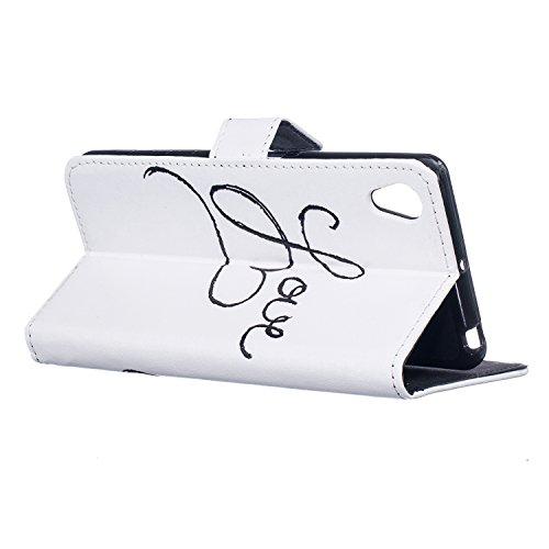 Sunroyal®para Sony Xperia XA Estilo Libro Funda PU Cuero Resistente, Ultra Slim PU Cuero Stand Flip Carcasa Caso, Leather Case Wallet Protector Card Cubierta de la Caja Protectora de Cuero del Soporte D-01