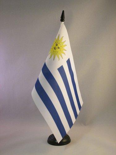 AZ FLAG Bandera de Mesa de Uruguay 21x14cm - BANDERINA de DESPACHO URUGUAYA 14 x 21