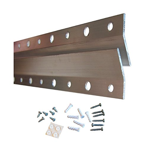 French Cleat Hanger 10 Inch | Picture, Mirror, Whiteboard, Pallet or Panel Wall Mount Bracket | Z Bar Hanger Supports 50 lbs | 2 Pack ()