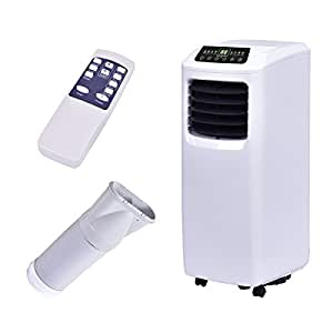 Costway 10,000 BTU Portable Air Conditioner Dehumidifier Function Window Wall Mount with Remote Control in White
