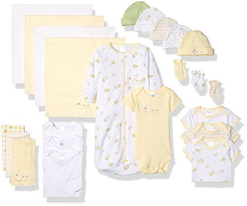 Unisex Layette Baby (SpaSilk Essential Newborn Baby Layette Set - 0-6 Months - Yellow, Set of 23)