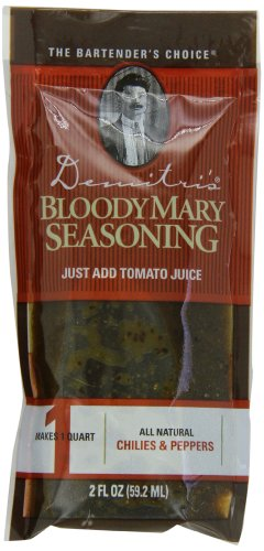 Demitri's Bloody Mary Seasoning Chilies & Peppers Recipe, 2-Ounce Packs (Pack of 50)