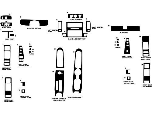 Impala Wood - Rdash Dash Kit Decal Trim for Chevrolet Caprice / Impala 1994-1996 - Wood Grain (Walnut)