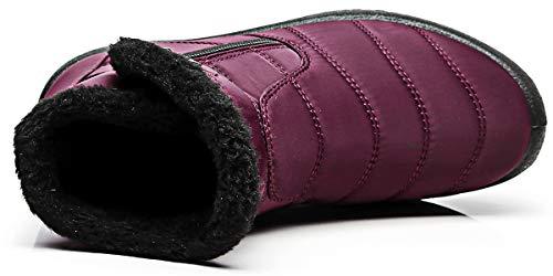 Piatto Piatto 2018 Bassi Impermeabile Pelliccia Stivali Neve Rosso Rosso Rosso Stivali Stivaletti Invernali Invernali Caviglia Scarpe Scarpe da Uomo Donna con da Hishoes Caloroso Boots Sportive FZfqwAS
