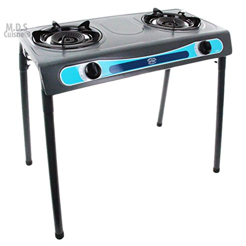 Double Head Propane Gas Burner Portable Stand Camping