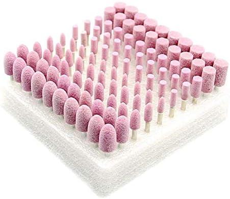 TOOGOO 100個/箱 砥石ホーニング研削ヘッドセット 金型 グラインダーツール 金属プラスチック木材研磨用
