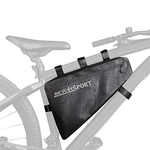 Bike Bags For Frame, Waterproof Road Bike Bags For Frame, Cycling Tube Bag, Mountain Bike Pouch Bag, Bicycle Seat Bag…