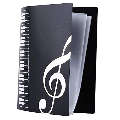 - LLY Music Sheet File Paper Documents Storage Folder Holder Plastic A4 Size Paper 40 Pockets