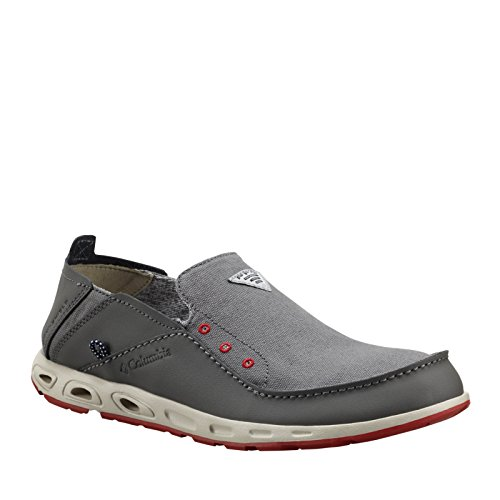 Columbia Men s PFG de ventilación Bahama Slip-On zapatos de barco CITY GREY/GYPSY