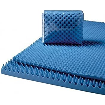 "Convoluted Foam Mattress Pads Size: Queen, Thickness: 3"""