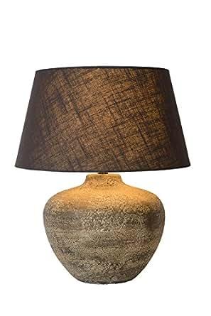 Lucide Ramses de mesa lámpara de color óxido, cerámica, E27, 60 W, Rust Brown, 60 x 60 x 48 cm