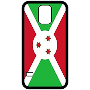 Burundi Flag Black Samsung Galaxy S5 Cell Phone Case - Cover