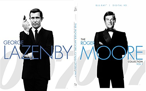 (Roger Moore 007 George Lazenby Collection James Bond Blu Ray Volume 2 Moonraker, Octopussy, View to a Kill + On Her Majesty's Secret Service 5 Movie Set )