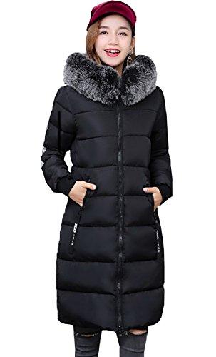 Negra Larga Capa Moda Chaqueta Con Bigood Mujer Para De Capucha Abrigo v7PwRZ7xTq