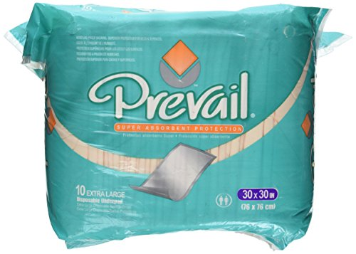 - Prevail Super Absorbency Disposable Underpads 76cm X 76cm