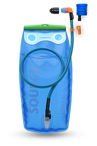 Source Outdoor Ultimate 3L Hydration System with Widepac Reservoir, Transparent Blue