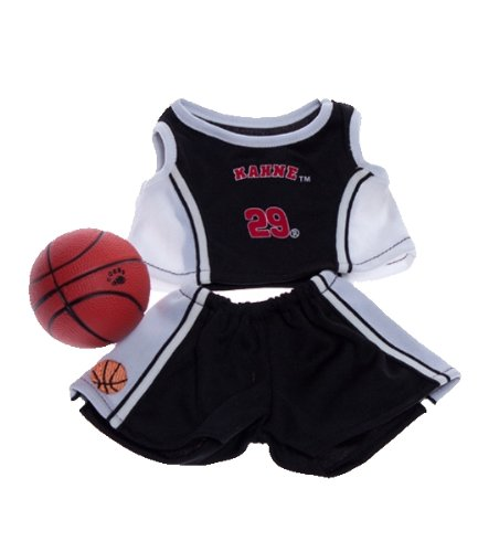 [Black and White Basketball Outfit with Ball Fits Most 8