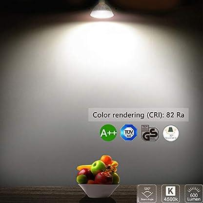 Bojim 6 x GU10 6W LED da Incasso, Faretti da Incasso, Lamapda da Soffitto, Lampada a Risparmio Energico AC 220-240V Bianco 4500K 600LM Angolo a Fascio 120 Gradi Ra 82 Non Dimmerabile