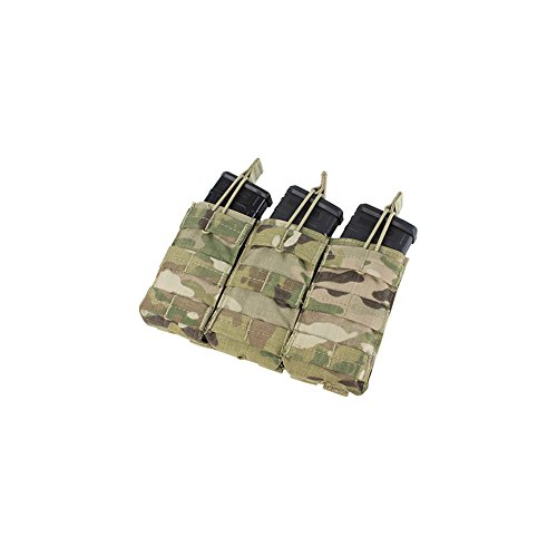 Condor Outdoor MA27 Triple Open Top Mag Pouch,Multicam,Holds 3 mags ()