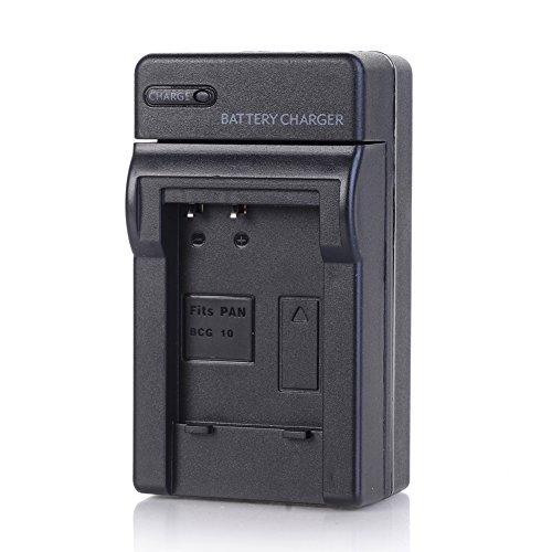 DE-A65B Battery Charger Compatible Panasonic DMW-BCG10 and Lumix DMC-ZS1, ZS3, ZS5, ZS6, ZS7, ZS8, ZS10, ZS15, ZS19, ZS20, DMC-TZ7, DMC-TZ10, DMC-TZ19, DMC-TZ20, DMC-TZ30, DMC-ZR1, DMC-ZR3