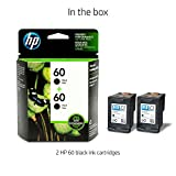 HP 60 Black Ink Cartridge (CC640WN), 2 Cartridges (CZ071FN) for HP Deskjet D2530 D2545 F2430 F4224 F4440 F4480 HP ENVY 100 110 111 114 120 HP Photosmart C4640 C4650 C4680 C4780 C4795 D110