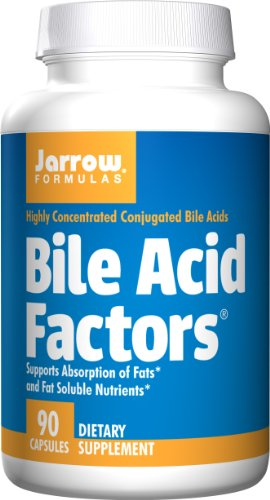 Jarrow Formulas Bile Acid Factors, Supports Absorption of Fats, 90 (Formula 90 Caps)