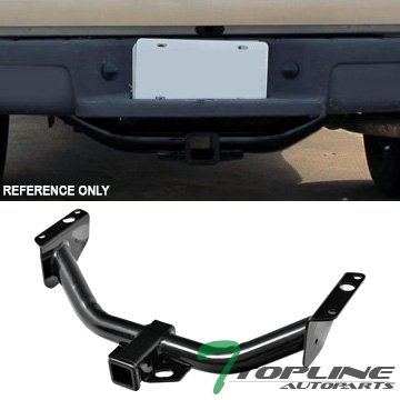 Topline Autopart Class 3 III Black 2' Rear Bumper Trailer Tow Hitch Towing Mount Receiver Tube For 83-11 Ford Ranger ; 94-10 Mazda B2300 / B3000 / B4000 Topline_autopart