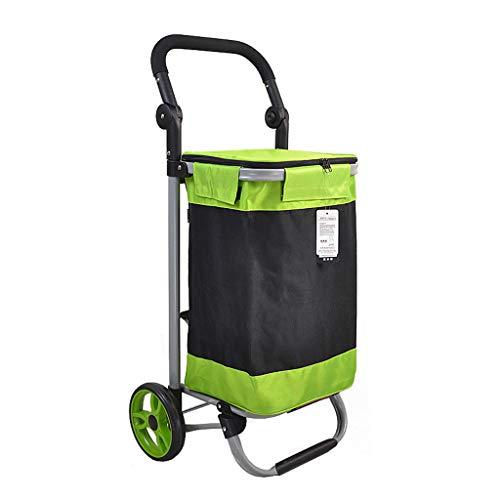 Xxw lamp Steel Pipe Folding Shopping Cart 17CM Bearing Wheel Shopping Buy Food Small Cart Wide Flat Frame