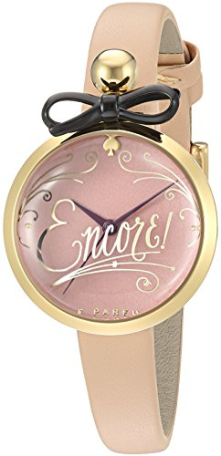 kate spade new york Women's KSW1176 Parfum Bottle Analog Display Quartz Beige Watch