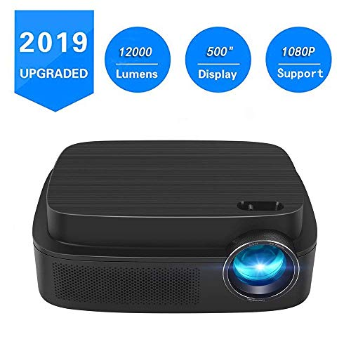 Mini Portable Projector-2018 Updated Portable 2800 Lux Home Theater LCD Video Projector Supporting 1080P -30,000 Hour LED Full HD Projector, Compatible with HDMI USB SD Card VGA AV for Home Theater