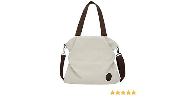 ad9514e41195 Amazon.com  Clearance ❤ Women Bag JJLIKER Canvas Simple Tote Handbag  Messenger Shoulder Bag  moneymadam