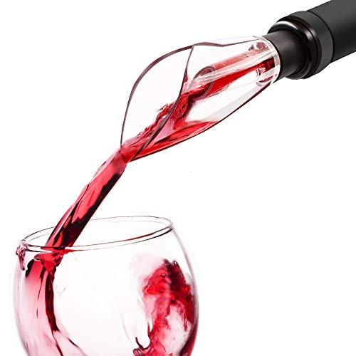 EZBASICS Wine Aerator Pourer-Wine Decanter Tulip Spout Wine Pourer Aerator for Wine Bottle