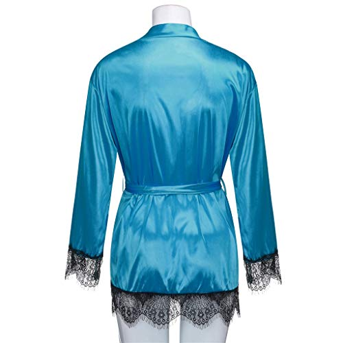 Giulogre Verde women Nightwear Mujer Bata Para FAgTrFP