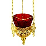World Faith Gold Plated Hanging Lamp