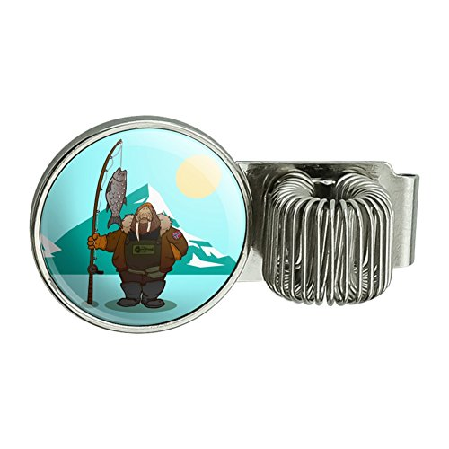 Walrus Fisherman Ice Fishing Planner Journal Appointment Book Diary Notebook Pen Holder Clip (In Fisherman Fishing Calendar)