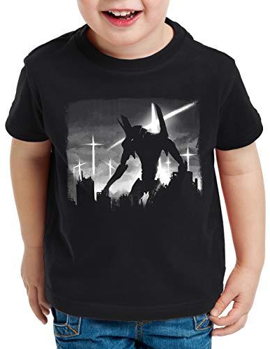 Evangelion Enfants T Evanglion Anime Kaiju Pour shirt A Cityscape n t Robot wpq7Z80