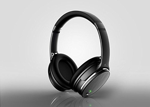 Wireless Headset, Noise Canceling Wireless Bluetooth Over-Ear Stereo Headphones with Mic
