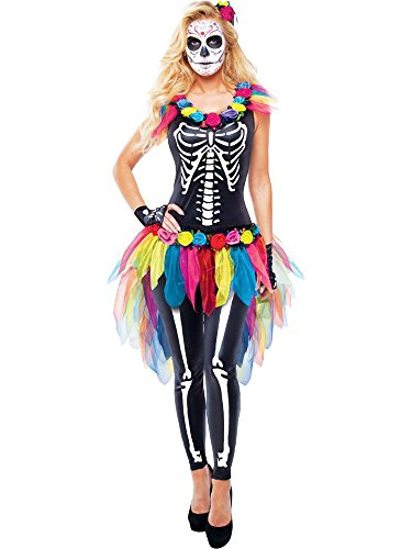 Celebrity Costumes - Goddessey Celebrity Day of The Dead Size Medium (8-10)
