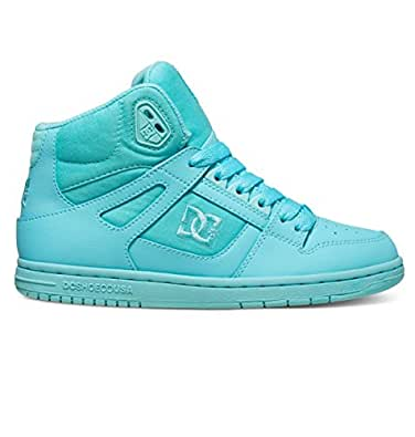 DC Women's Rebound High Skateboarding Shoe, Aqua, 7 B US