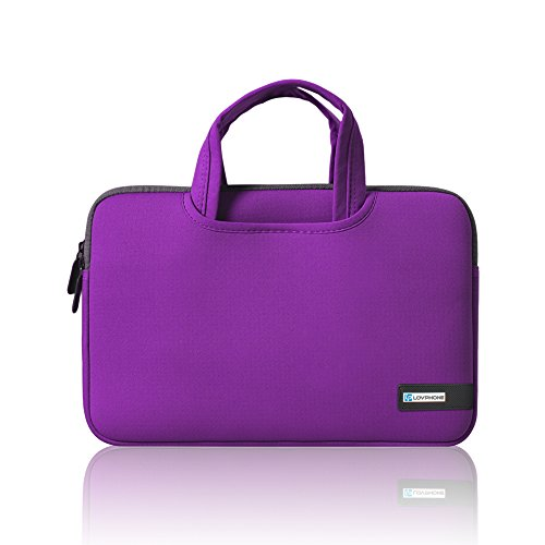 15.6 Inch Laptop Sleeve,LOVPHONE Breathable Notebook Computer Case Cover For Macbook Pro/Lenovo/ASUS/Samsung/Acer/HP and All 15 Inch Notebooks,Slim-fit Briefcase Carrying Bag/Pouch,Bright purple (Laptop Hp Purple Case)
