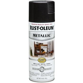 Rust-Oleum 7250830 Metallic Spray, Black Night, 11-Ounce