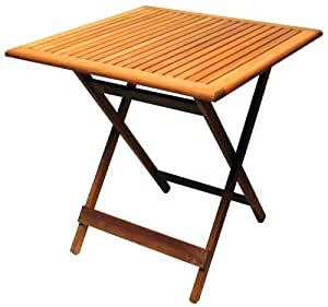 Arboria 88031841 Idlewild Outdoor Wood Take Five Folding Cafe Table